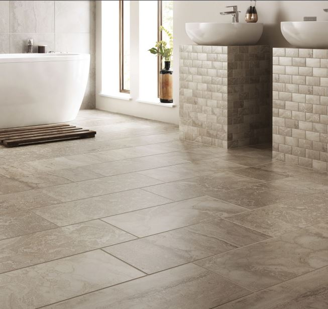 18x18 tile in small bathroom 5 flooring options for kitchens and bathrooms empire 21767