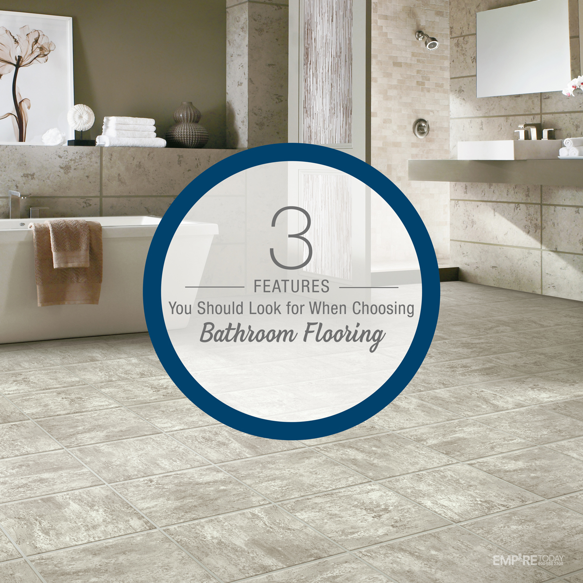Bathroom flooring features